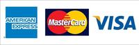 利用頂けるクレジットカードAMEX、Master、VISAです。
